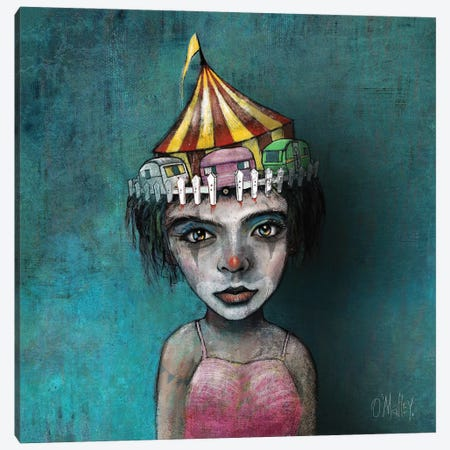 The Circus Girl Canvas Print #LOM44} by Leith O'Malley Canvas Art