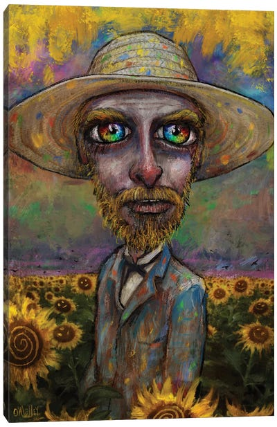 Vincent And The Sunflowers Canvas Art Print