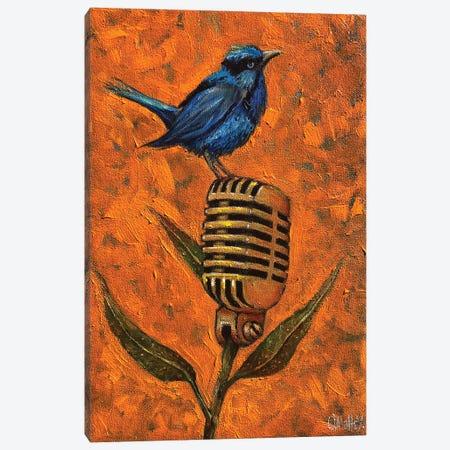 Blue Wren Canvas Print #LOM49} by Leith O'Malley Art Print