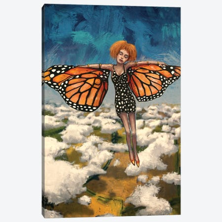 Butterfly Girl (Your Turn To Soar) Canvas Print #LOM51} by Leith O'Malley Canvas Artwork