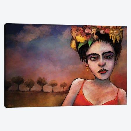 Frida Canvas Print #LOM58} by Leith O'Malley Canvas Artwork