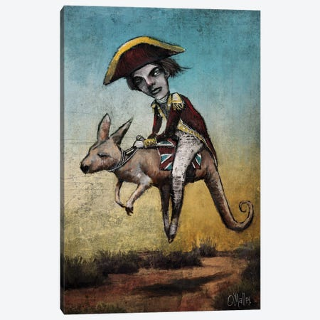 The Explorer Canvas Print #LOM7} by Leith O'Malley Canvas Wall Art