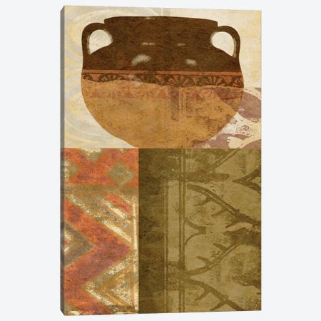 Ethnic Pot III Canvas Print #LON117} by Alonzo Saunders Art Print