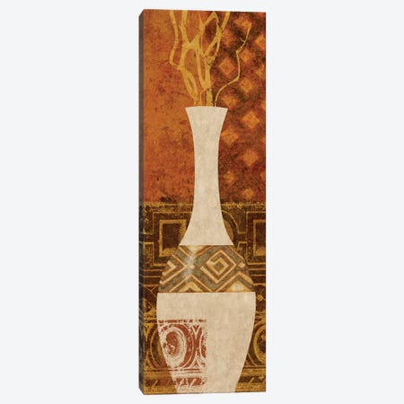 Ethnic Vase I Canvas Print #LON119} by Alonzo Saunders Canvas Artwork