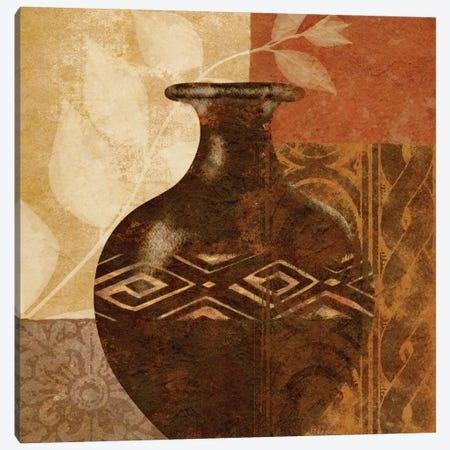 Ethnic Vase III Canvas Print #LON121} by Alonzo Saunders Canvas Print