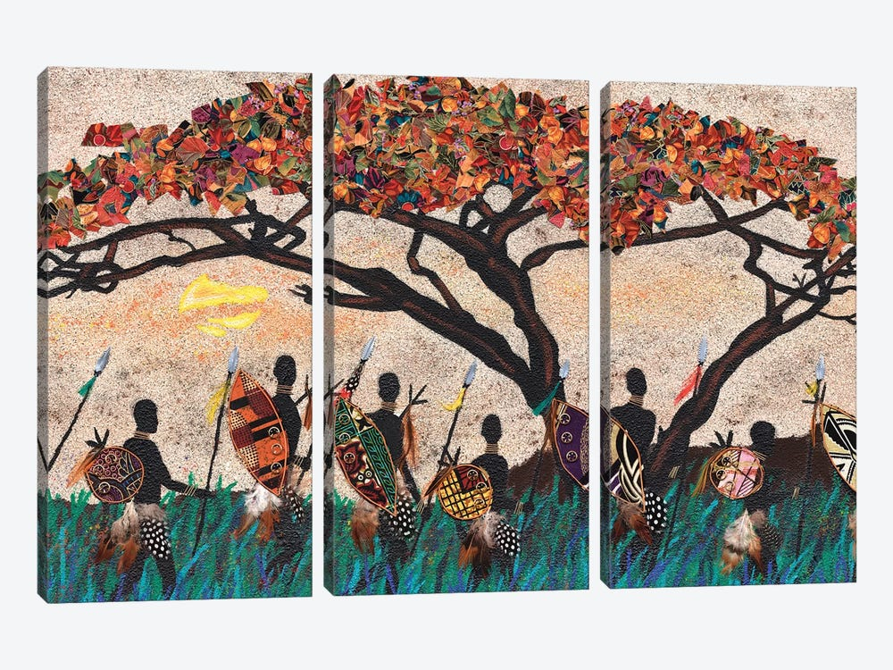 Planes of Africa III by Alonzo Saunders 3-piece Art Print