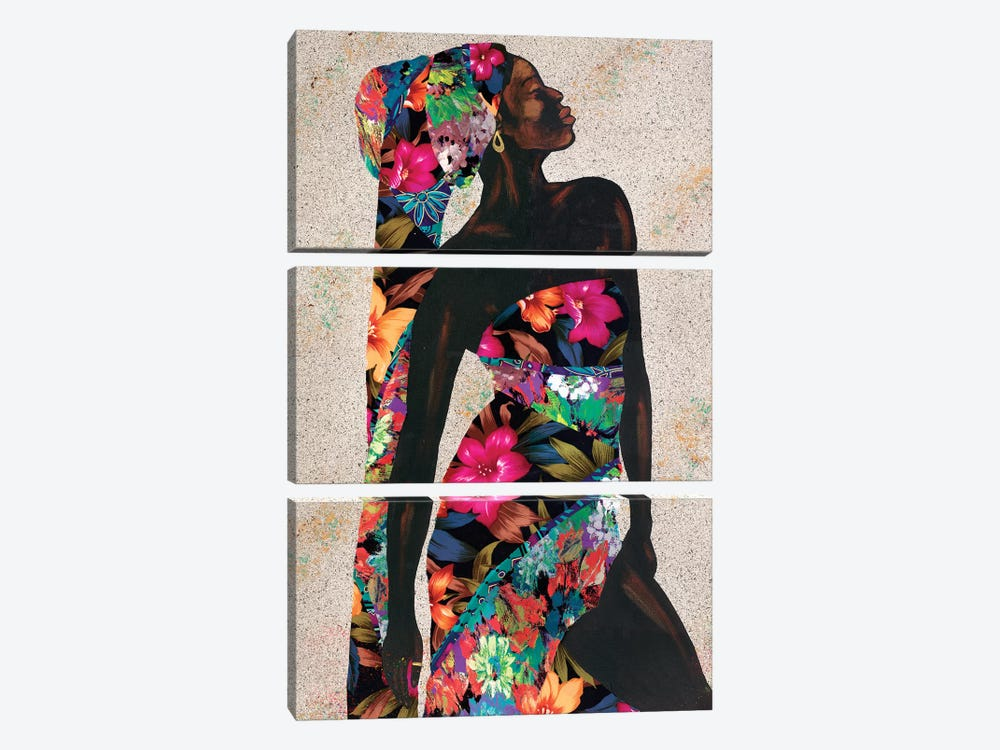 Woman Strong I by Alonzo Saunders 3-piece Canvas Art