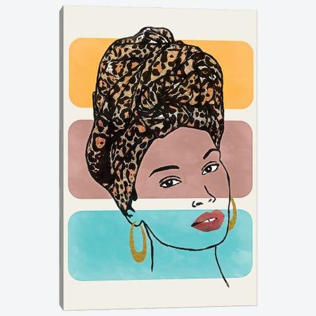 Head Wrap I Canvas Print #LON152} by Alonzo Saunders Canvas Artwork