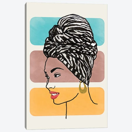 Head Wrap II Canvas Print #LON153} by Alonzo Saunders Canvas Art