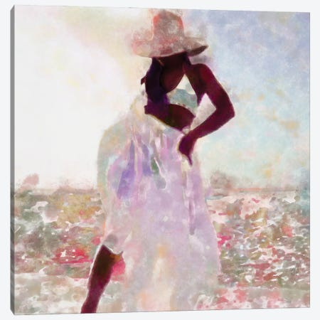 Her Colorful Dance I Canvas Print #LON154} by Alonzo Saunders Art Print