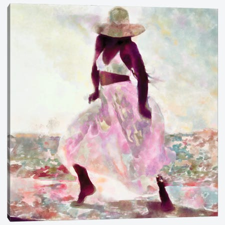 Her Colorful Dance II Canvas Print #LON155} by Alonzo Saunders Canvas Art Print