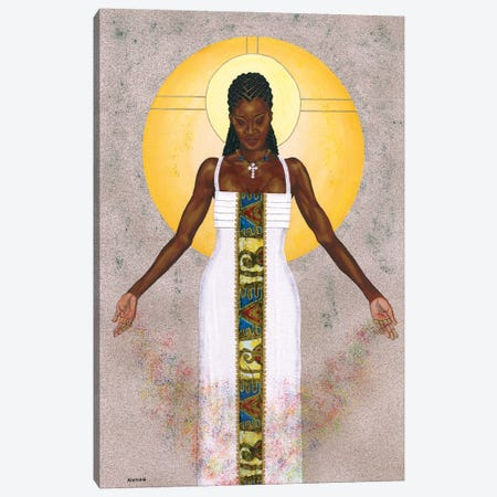 Her Peace Canvas Print #LON160} by Alonzo Saunders Canvas Art Print