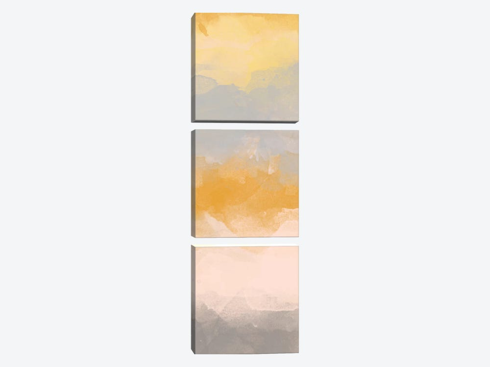 Color Fall I by Alonzo Saunders 3-piece Canvas Artwork