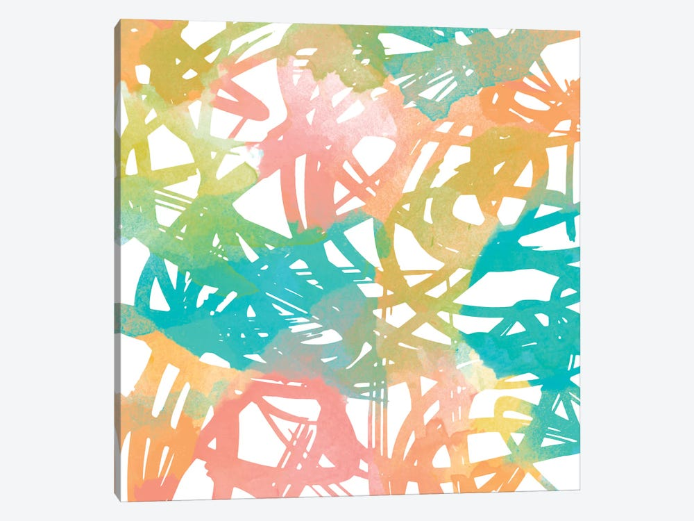 Colorful Flow II by Alonzo Saunders 1-piece Canvas Artwork