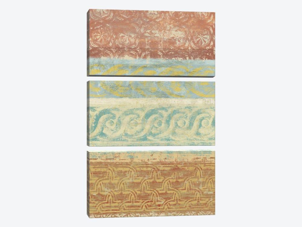 Decorative Patterns I by Alonzo Saunders 3-piece Canvas Artwork