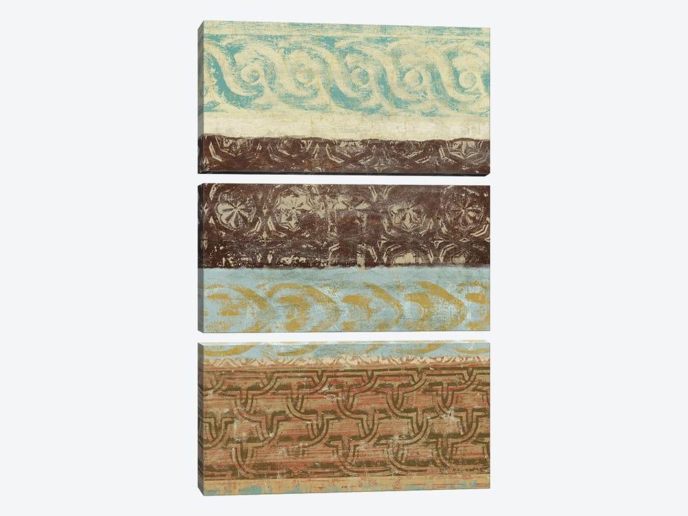 Decorative Patterns IV by Alonzo Saunders 3-piece Canvas Print