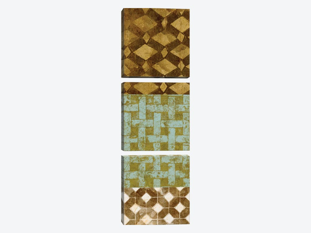 Tiled Up II by Alonzo Saunders 3-piece Canvas Wall Art