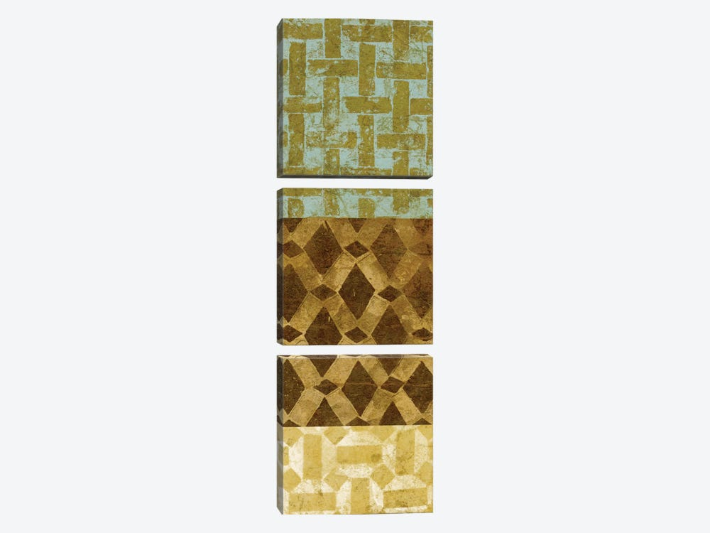 Tiled Up III by Alonzo Saunders 3-piece Canvas Art Print