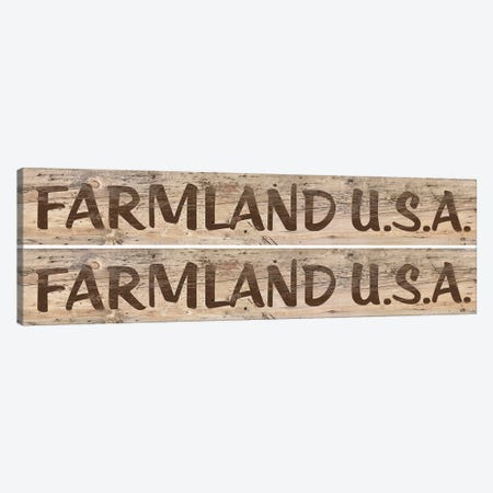 Farm Sign 2-up I Canvas Print #LON64} by Alonzo Saunders Art Print