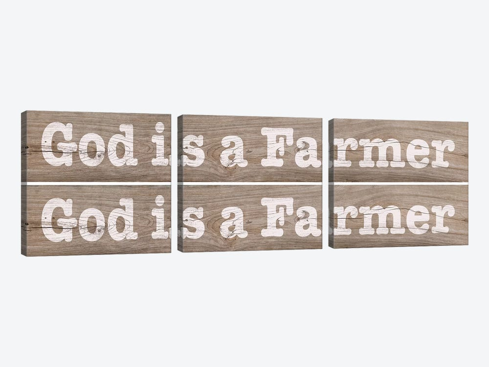 Farm Sign 2-up II by Alonzo Saunders 3-piece Canvas Print