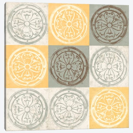 Yellow Squared II Canvas Print #LON91} by Alonzo Saunders Art Print