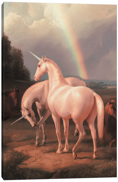 Unicorns Canvas Art Print