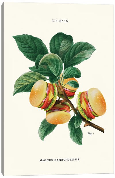 Burger Plant Canvas Art Print