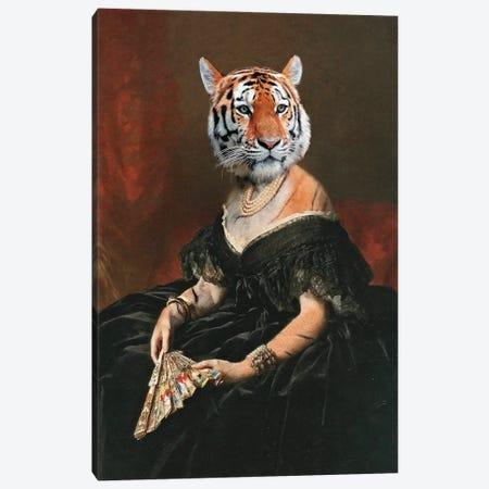 Lady Tiger Canvas Print #LOO115} by Jonas Loose Canvas Artwork