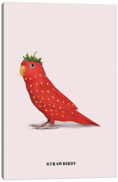 Strawbirdy Canvas Art Print