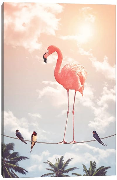Flamingo & Friends Canvas Art Print