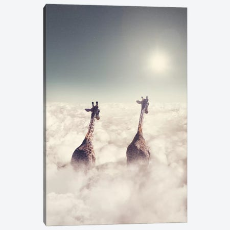 Giant Giraffes Canvas Print #LOO16} by Jonas Loose Art Print