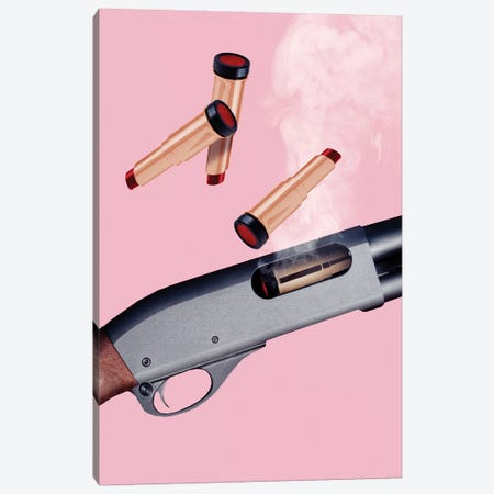 Lipstick Gun Canvas Print #LOO21} by Jonas Loose Canvas Print