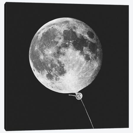 Moonballoon Canvas Print #LOO25} by Jonas Loose Canvas Wall Art