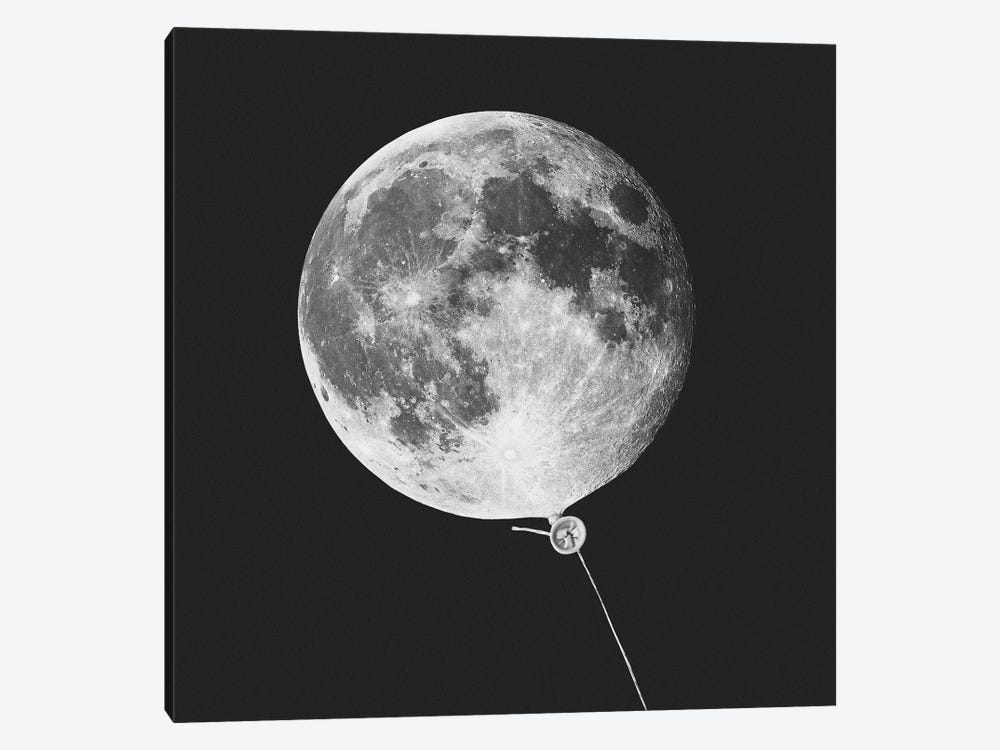 Moonballoon by Jonas Loose 1-piece Canvas Wall Art
