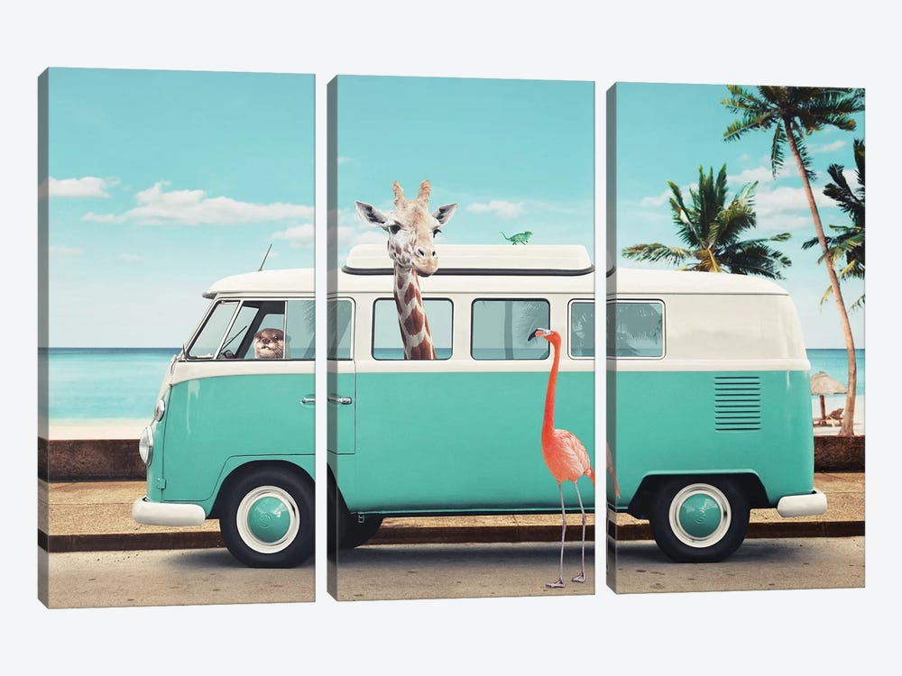 On The Road by Jonas Loose 3-piece Canvas Wall Art