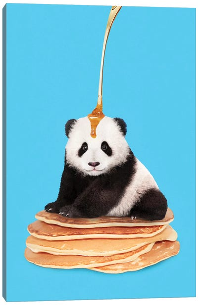 Pancake Panda Canvas Art Print