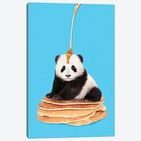 Pancake Panda Canvas Print #LOO30} by Jonas Loose Canvas Wall Art