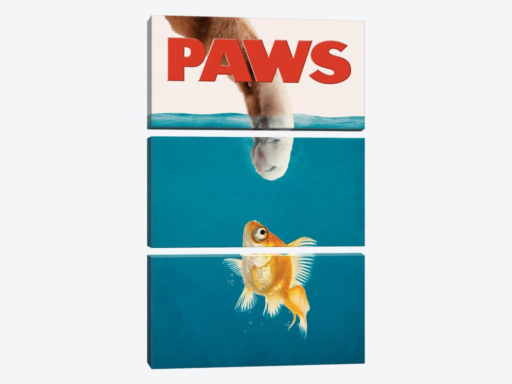 Paws by Jonas Loose 3-piece Canvas Wall Art