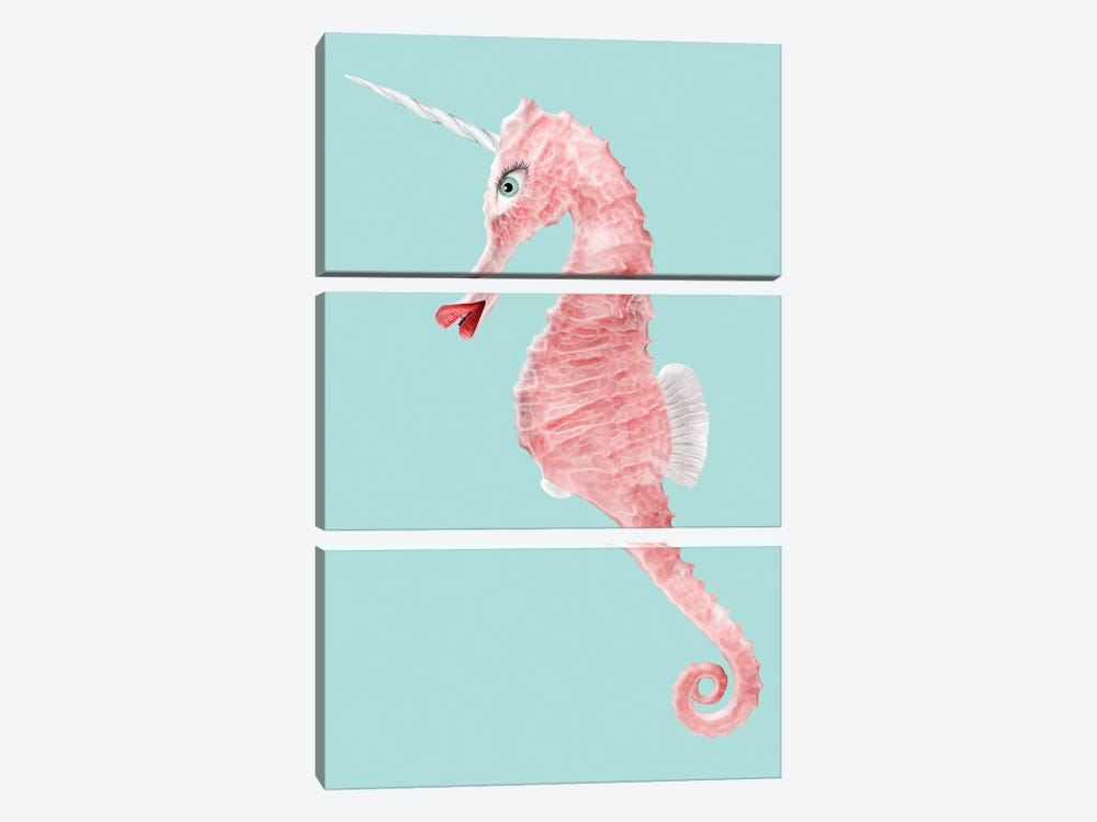 Seaunicorn by Jonas Loose 3-piece Canvas Art