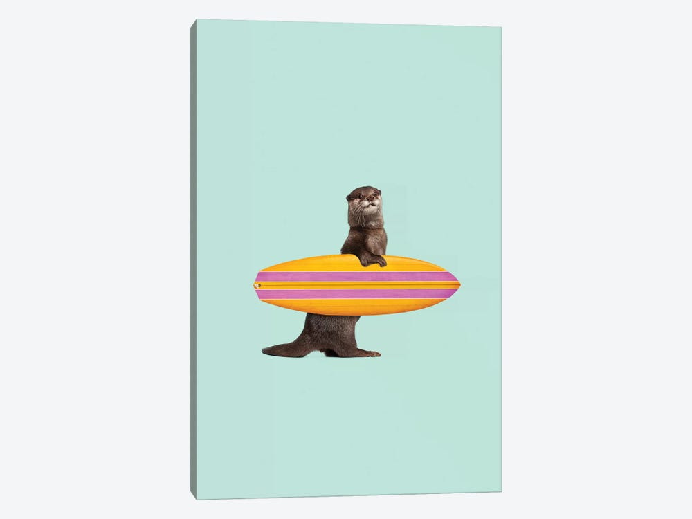 Surfing Otter by Jonas Loose 1-piece Canvas Art Print