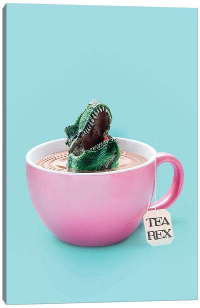 Tea-Rex Canvas Art Print