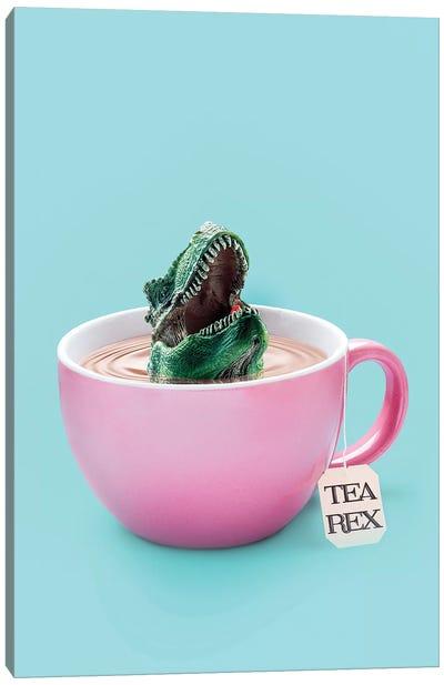 Tea-Rex Canvas Art Print