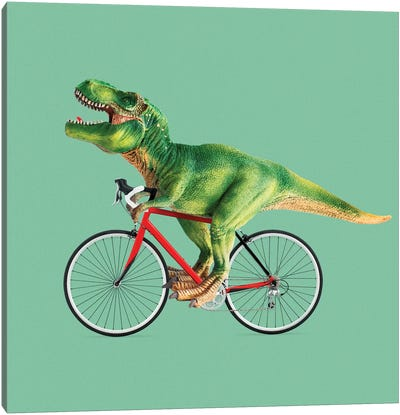 T-Rex Bike Canvas Art Print