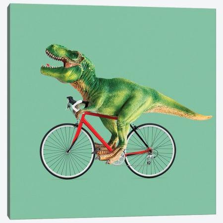 T-Rex Bike Canvas Print #LOO49} by Jonas Loose Art Print