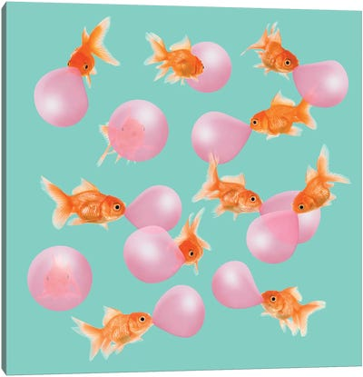 Bubblegum Goldfish Canvas Art Print