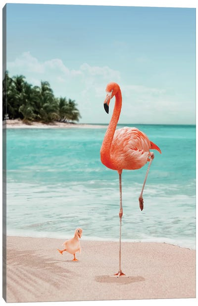 Wannabe Flamingo Canvas Art Print