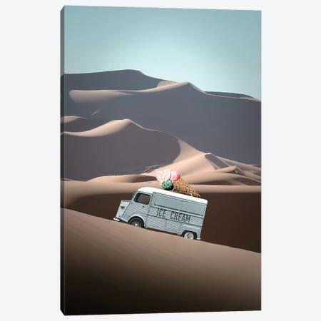 Ice Cream Van Canvas Print #LOO52} by Jonas Loose Canvas Artwork