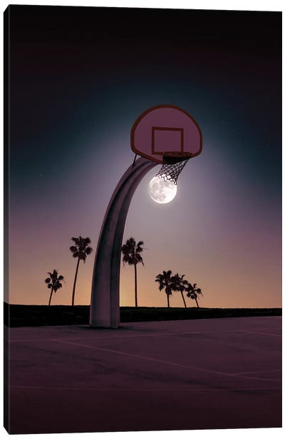 Basketmoon Canvas Art Print
