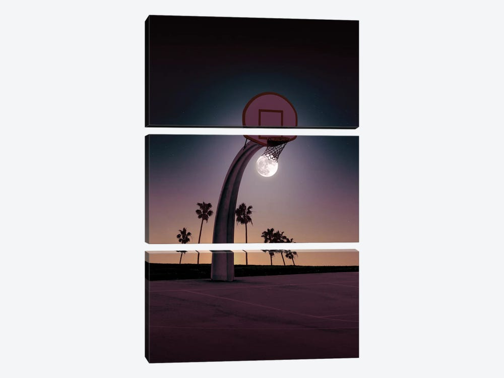 Basketmoon by Jonas Loose 3-piece Canvas Art Print