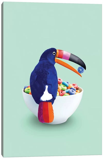 Cereal Toucan Canvas Art Print